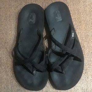 Teva Mush Slip On Thong Flip Flops Sandals